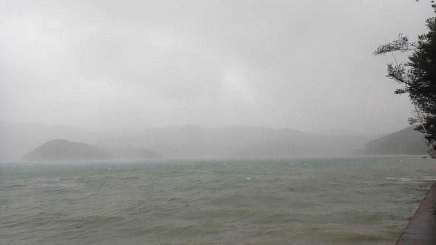 台風10号ハイシェン通過後の加計呂麻島